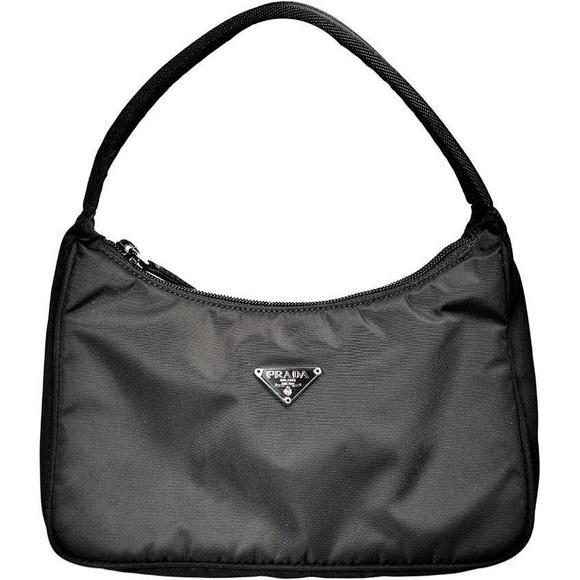 8a9627499702 PRADA Black Nylon Tessuto Mini Hobo Handbag. M_5c7065f75c445229a3e85d7e